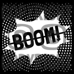 Boom Masking Stencil