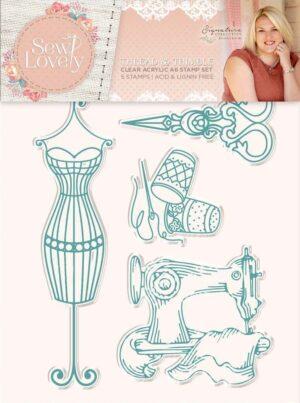 Thread & Thimble Acrylic Stamp Set