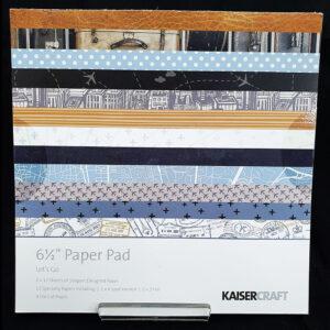 """Kaisercrafts 6.5"""" Paper Pad Lets Go"""