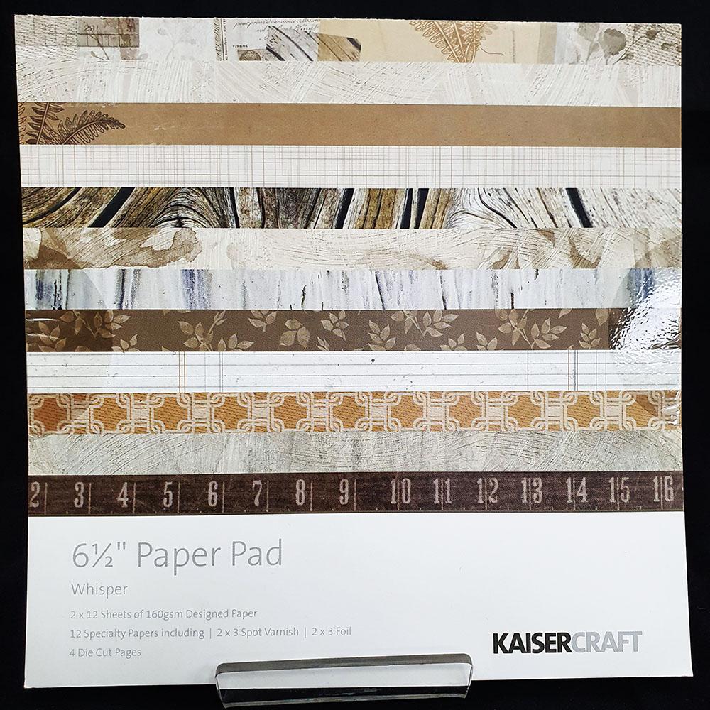 "Kaisercrafts 6.5"" Paper Pad Whisper"