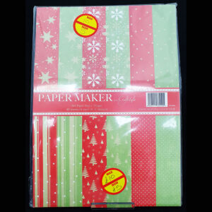 A4 Paper Pad Christmas Pale Red & Greens