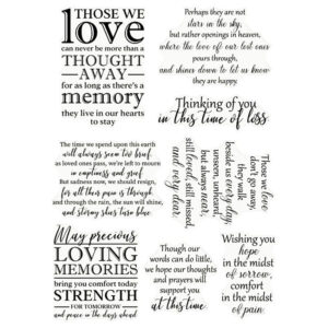 Crafter's Companion Clear Acrylic Stamps – Loving Memories