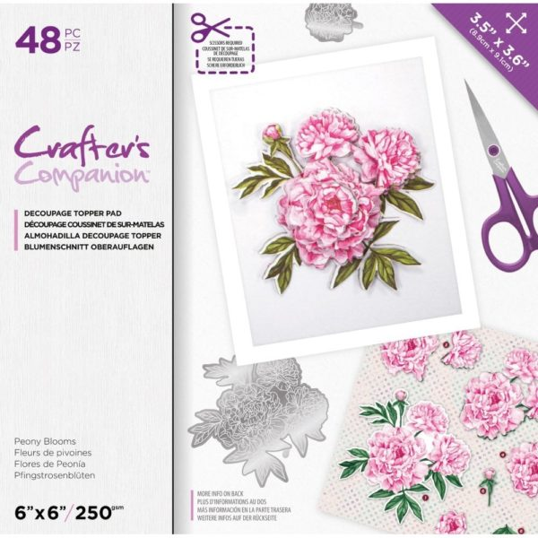 Crafter's Companion Floral Decoupage Topper Pad – Peony Blooms
