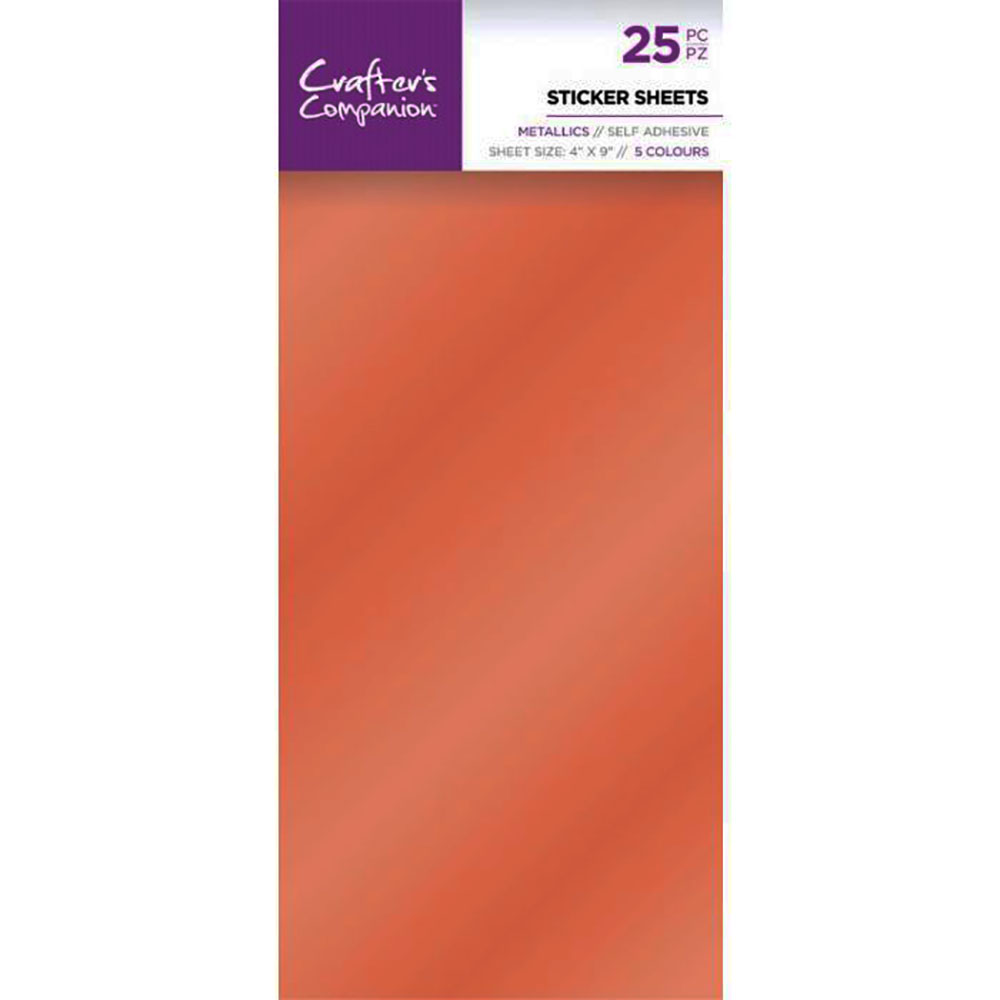 Crafters Companion self adhesive sticker sheets