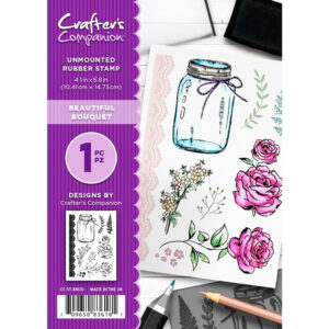 Crafter's Companion A6 Rubber Stamp – Beautiful Bouquet CC-ST-BBOU