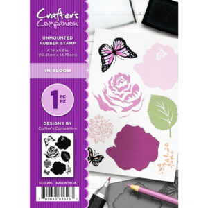 Crafter's Companion A6 Rubber Stamp – In Bloom-CC-ST-INBL