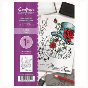 Crafter's Companion A6 Rubber Stamp – Music Time CC-ST-MT