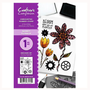 Crafter's Companion A6 Rubber Stamp – Quirky Florals-CC-ST-QF