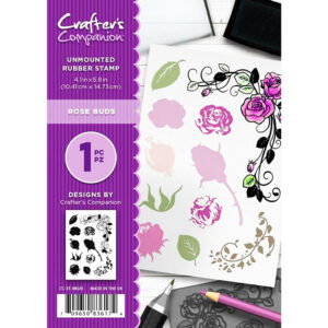 Crafter's Companion A6 Rubber Stamp – Rose Buds-CC-ST-RBUD