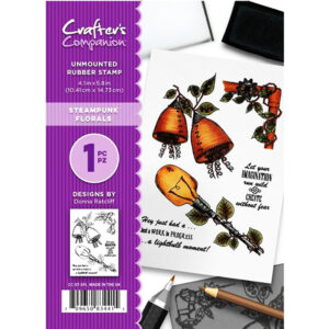Crafter's Companion A6 Rubber Stamp – Steampunk Florals-CC-ST-SFL