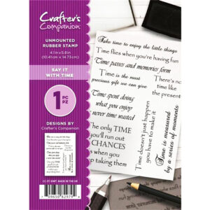 Crafter's Companion A6 Rubber Stamp – Say It With Time-CC-ST-SIWT
