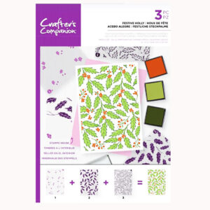 Crafter's Companion Background Layering Stamps – Festive Holly