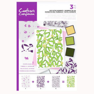 Crafter's Companion Background Layering Stamps – Mistletoe Moments