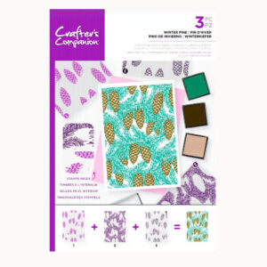 Crafter's Companion Background Layering Stamps – Winter Pine