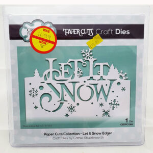 Paper cuts let it snow edger die