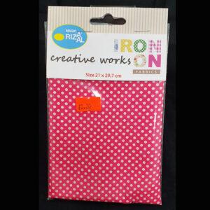 Creative Iron On Fabric Polkadots
