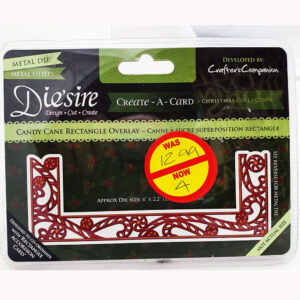 Crafters Companion Desire Edgeables – Candy Cane Overlay