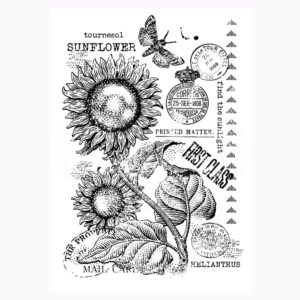 Vintage Sunflower Stamp