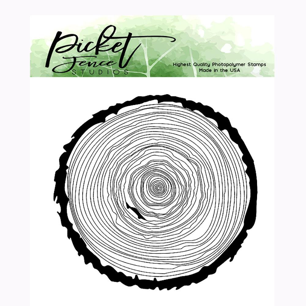 Picket Fence Stamp Log Slice