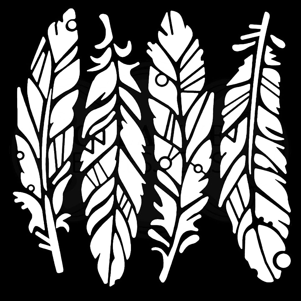 Woodware Stencil - Feathers