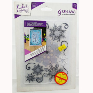cut & Emboss folder snowflake swirls