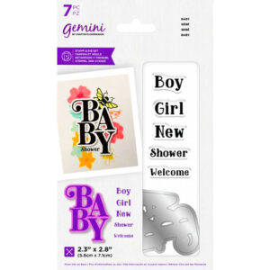 Crafters Companion Stamp & Die Set - Baby