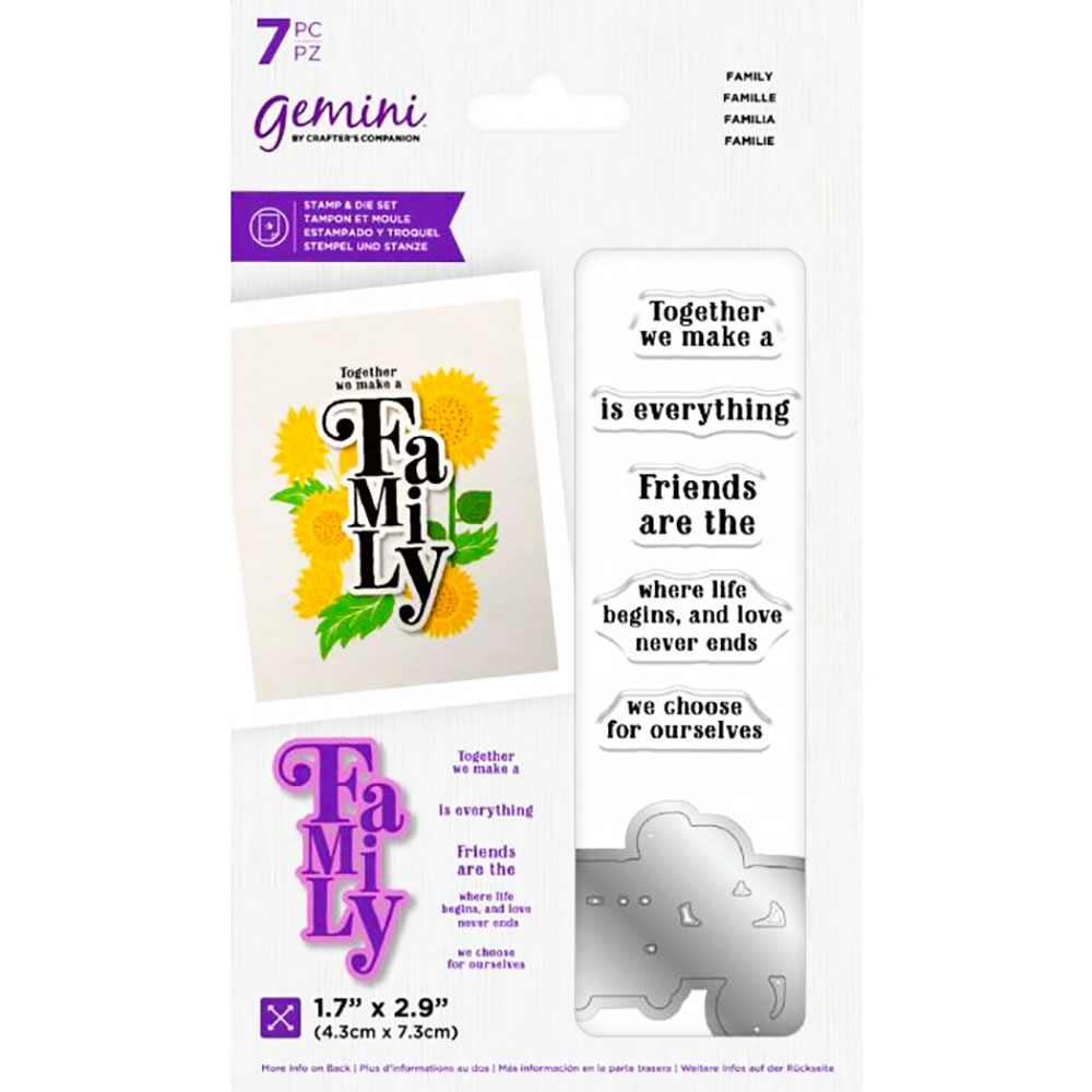 Crafters Companion Stamp & Die Set - Family