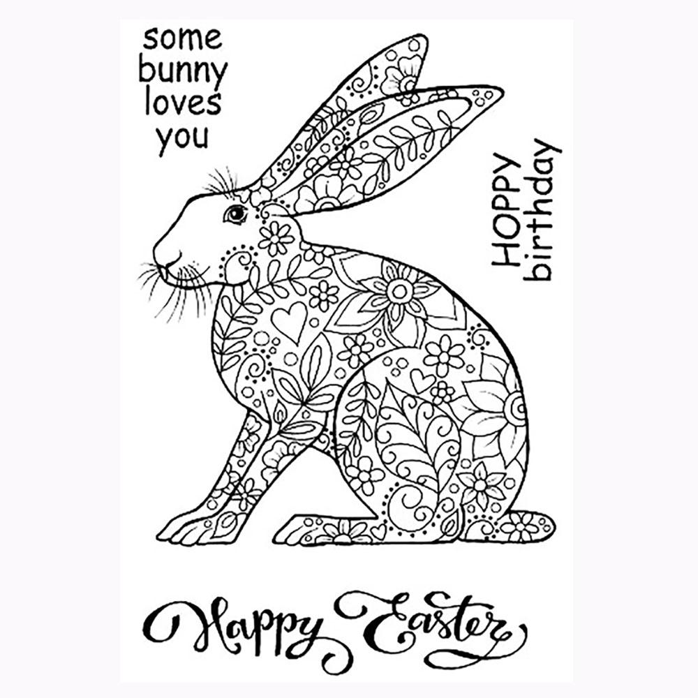 Decorative Hare Stamp