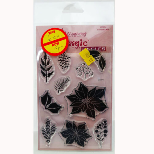 Woodware Stamps – Pionsettia Mix