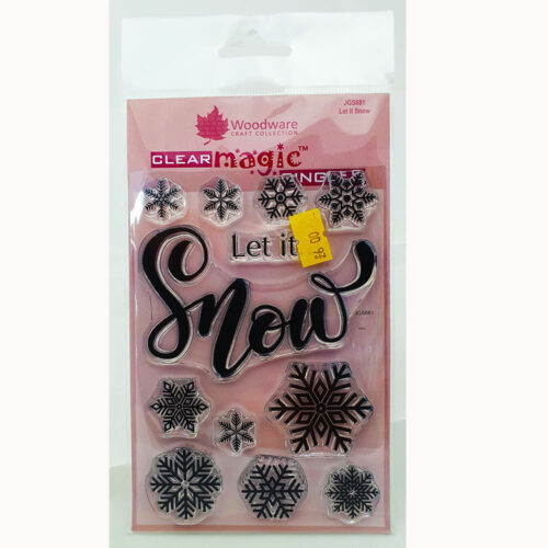 Woodware Stamps – Let It Snow