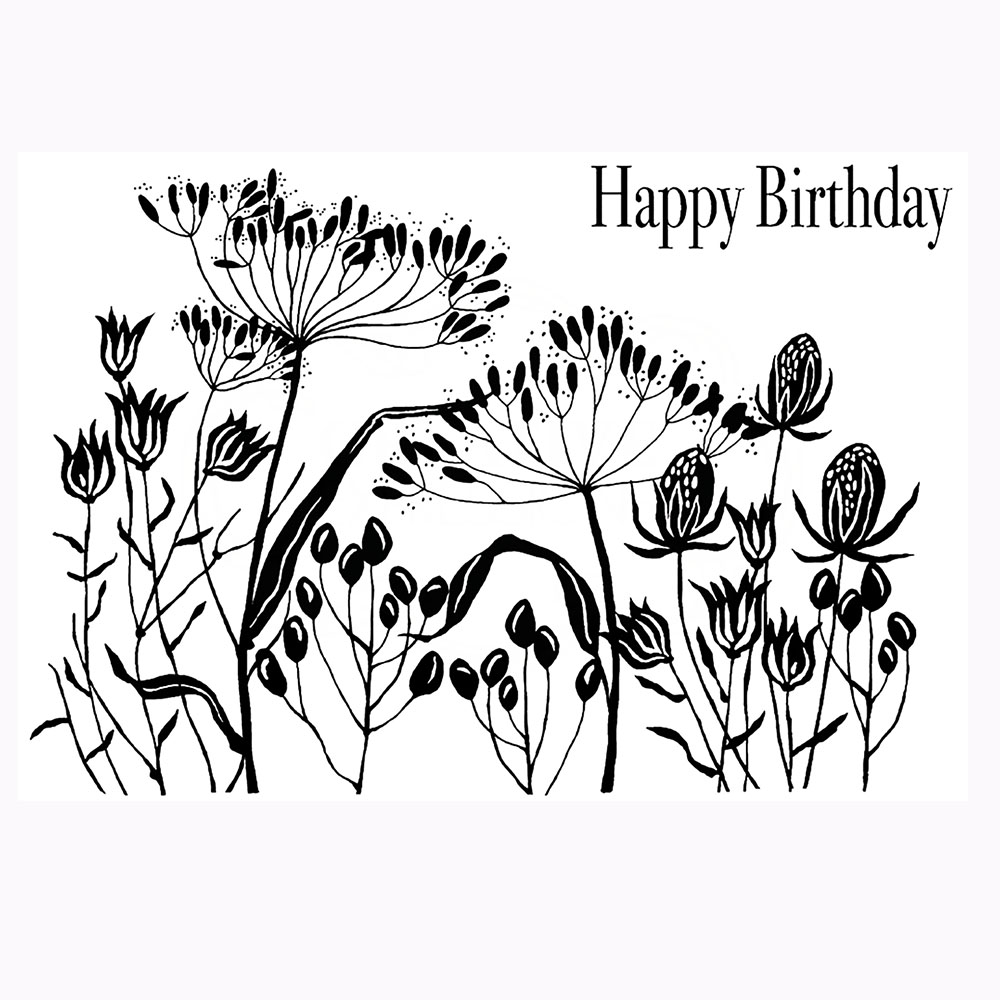 Seed Pods & Stems Stamp