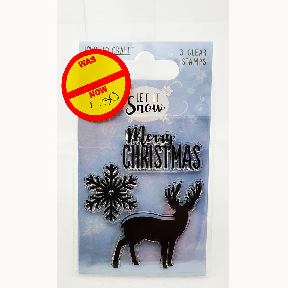 Love To craft Acrylic Stamp – Let It Snow