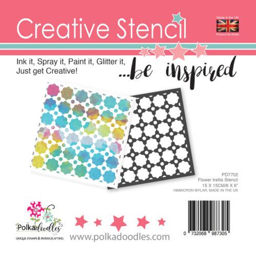 Creative Stencil Flower Trellis