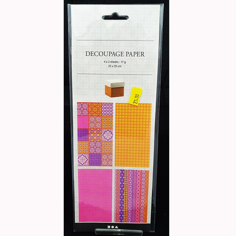 Pint Pattern Decoupage