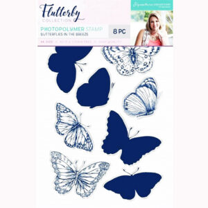 Crafters Companion Flutterby Stamp - Butterflies In The Breeze Code: S-F-ST-BITB Sara's Signature Range is the absolutely stunning Flutterby collection,