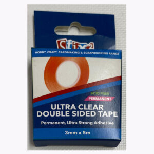 3mm x 15m Stix2 Ultra Clear Double Sided Tape (permanent)