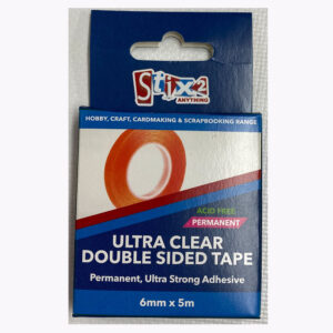 6mm x 15m Stix2 Ultra Clear Double Sided Tape (permanent)