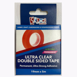 19mm x 15mStix2 Ultra Clear Double Sided Tape (permanent)