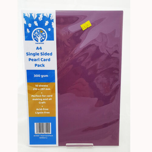 Single Sided- pearlised Card 300gsm- Wildberry