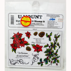 U-Mount – Cut It Mount It Stamp – Holly