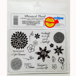 U-Mount – Whimsical Floral A5 Rubber Stamp