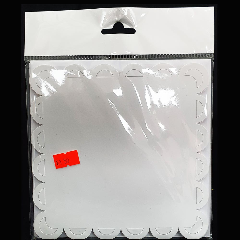 """Craftstyle 6"""" x 6"""" Card & Envelopes Square Scalloped"""
