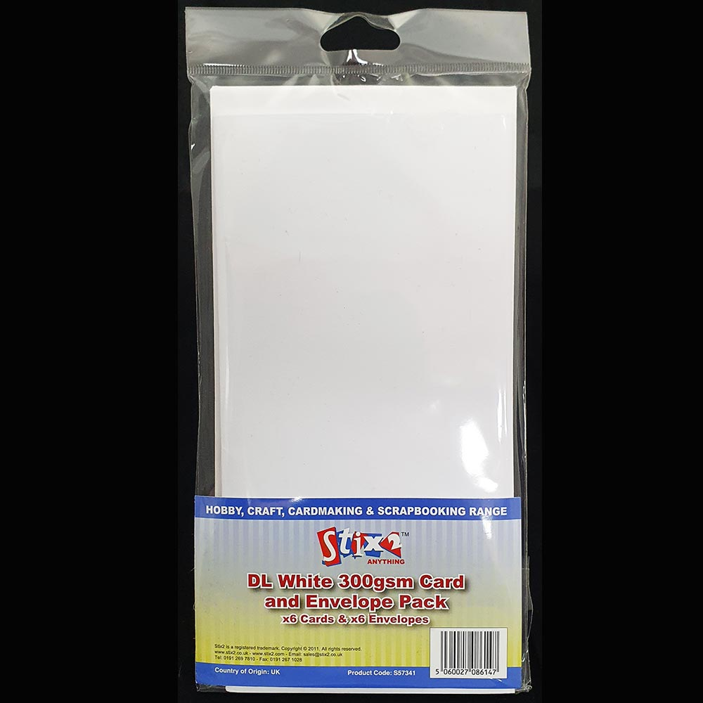 Stix2 DL Card & Envelopes White
