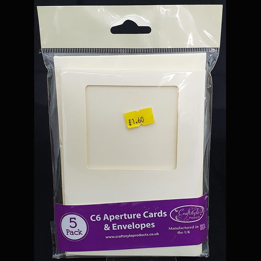 Craftstyle C6 Card & Envelopes Aperture