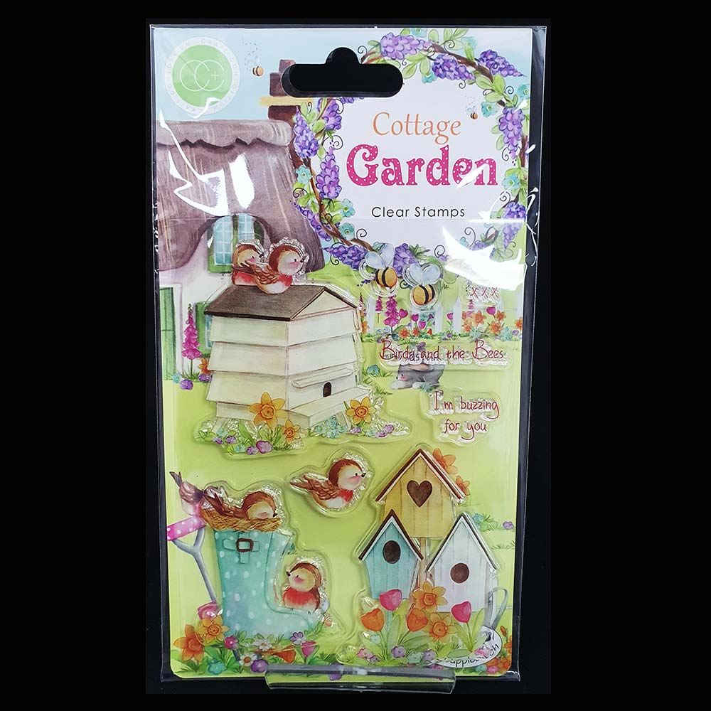 Cottage-garden-Birds-&-The-Bees-Acrylic-Stamp